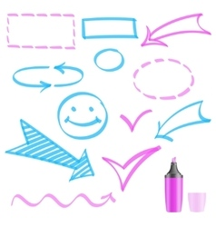 Design elements painted marker vector image vector image