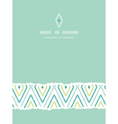 Green ikat diamonds vertical torn seamless vector image vector image