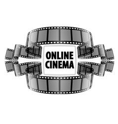 Online cinema video film vector image vector image