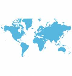 world map flat vector image vector image