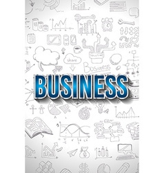 Business Concept with Doodle design style finding vector image vector image