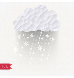 cloud with snowfall winter background made of vector image