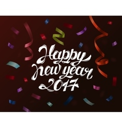 Falling paper confetti for new year and christmas vector image