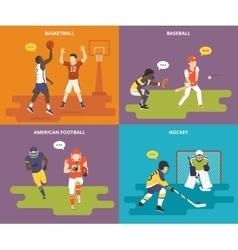 Flat sport icons set vector image