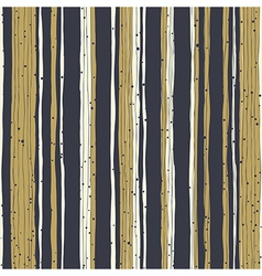 Golden stripes and black lines with chaotic dots vector image vector image