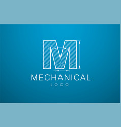 logo letter m in the style of a technical vector image vector image