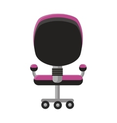 Purple Office Armchair Icon vector image vector image