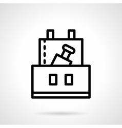 Professional celebration black line icon vector image vector image