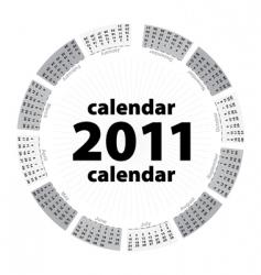 simple creative calendar of 2011 vector image vector image