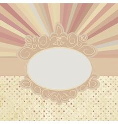 Vintage Sun burst Card vector image