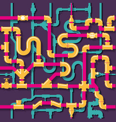 Water piping seamless pattern vector image vector image