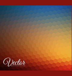 abstract blurred hexagonal background vector image vector image