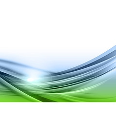 Abstract green blue background downside vector