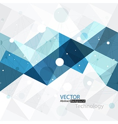 abstract technology background blue vector image vector image