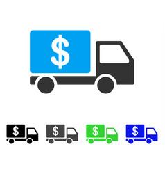 cash delivery car flat icon vector image vector image
