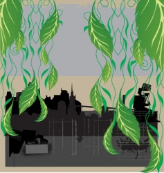 city nature vector image