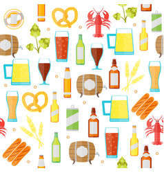 drinking beer background pattern vector image