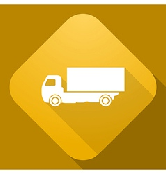 icon of truck with a long shadow vector image vector image