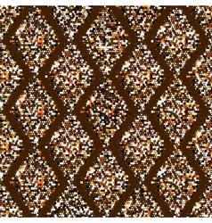 Mottled geometric ornament vector image vector image