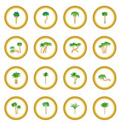 palm icon circle vector image