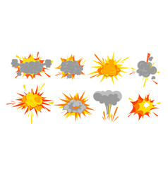 set of smooth explosion vector image