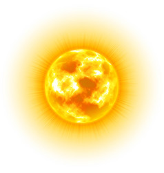 sun white background heavenly body cartoon vector image