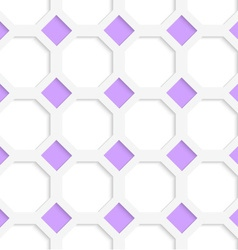 White 3D with colors purple diamonds vector image vector image