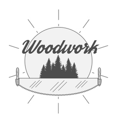 Woodwork Industry Badge vector image