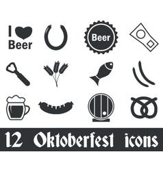 12 Oktoberfest icons set vector