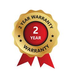 2 year warranty badge year warranty logo photo vector