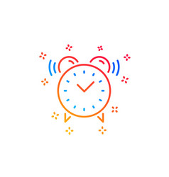 Alarm clock line icon time sign vector