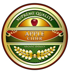 Apple Cider Vintage Label vector image