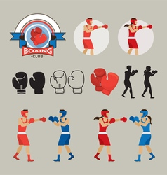 Boxing Graphic Elements vector