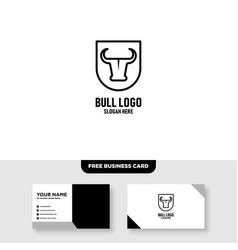 Buffalo shield logo design template free business vector