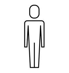 businessman standing male character vector image