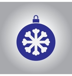 Christmas ball and snowflake vector