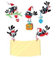 christmas bullfinch vector image