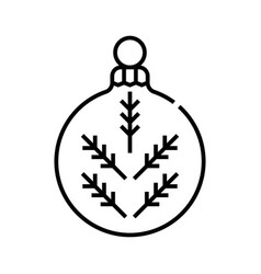 Christmas toy line icon concept sign outline vector