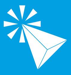 click icon white vector image
