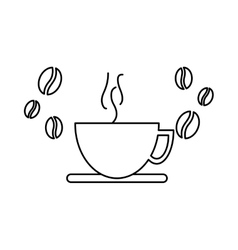 Coffee cup and grains icon image vector