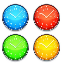 color clock vector image