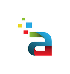 creative letter a letter logo vector image
