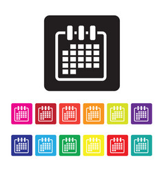 date organising icon set vector image