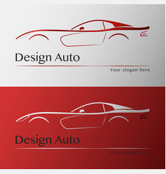 Design car with business card template vector