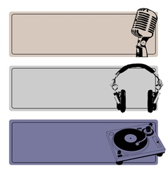 DJ Banners Set vector