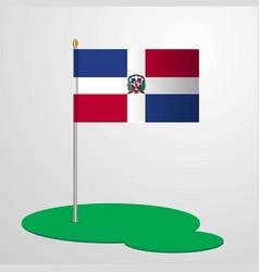 Dominican republic flag pole vector