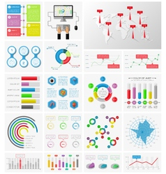 Elements of infographics collection vector image vector image