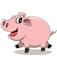 Fat pig cartoon vector