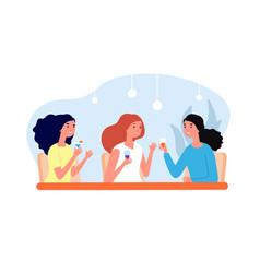 female friends drinking girls meeting women vector image