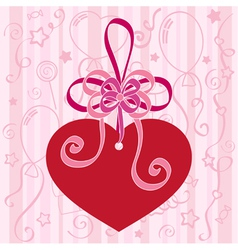 Festive background with heart vector